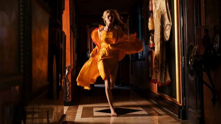 Martha Hunt Poses in Romantic Dresses for V Magazine