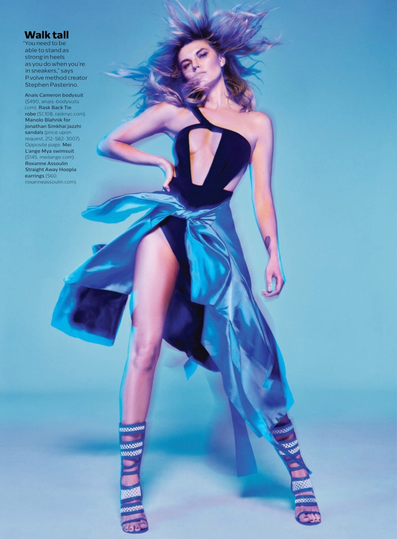 Maryna Linchuk Models Athletic Glam Fashions for Shape Magazine