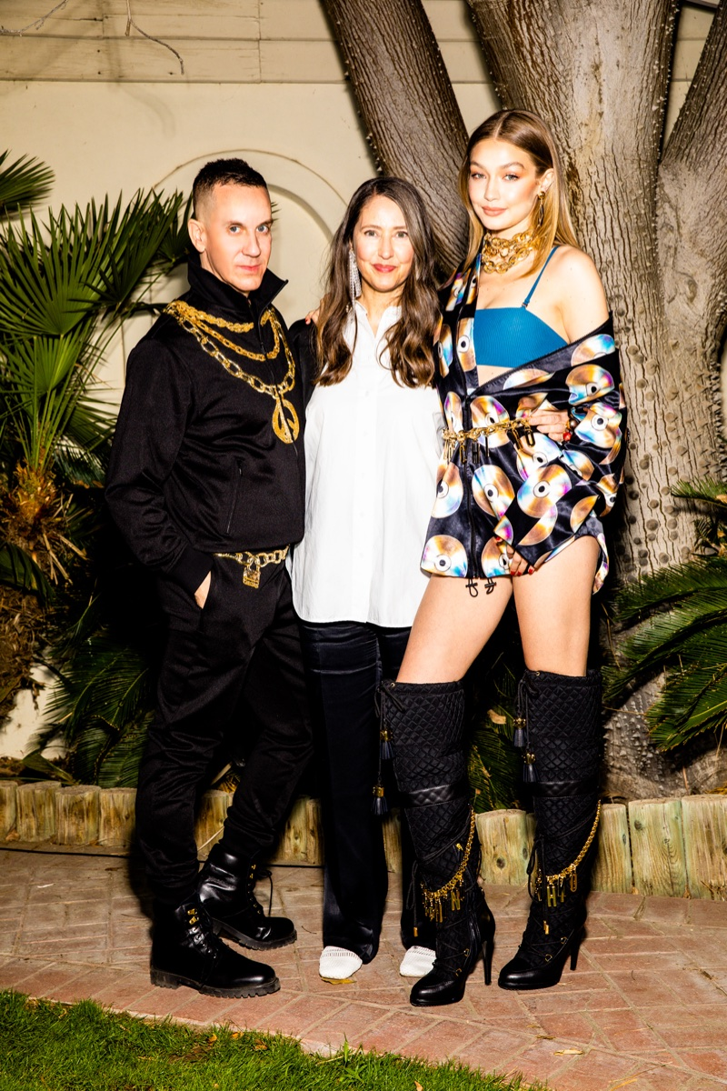 H&M x MOSCHINO COLLABORATION ANNOUNCED: Ann-Sofie Johansson and Gigi Hadid.
