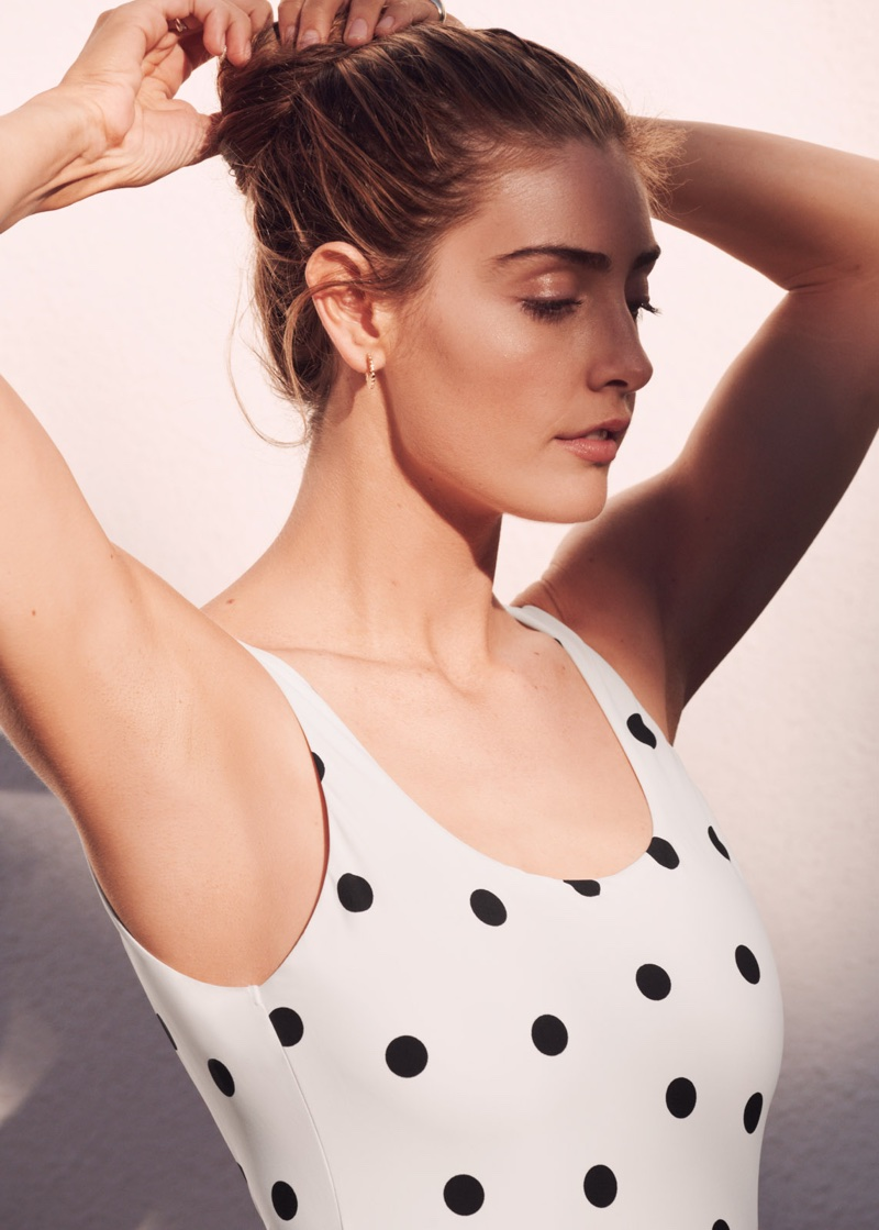 & Other Stories Polka Dot Swimsuit