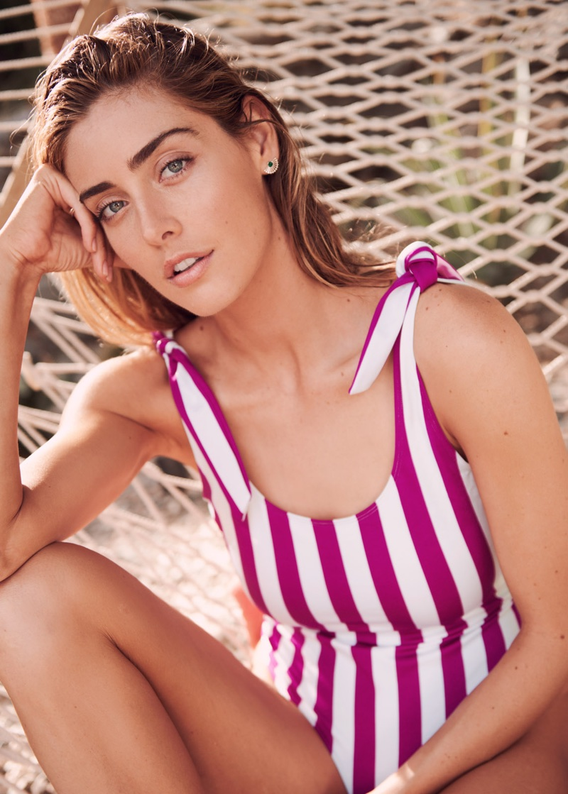 & Other Stories Striped Swimsuit