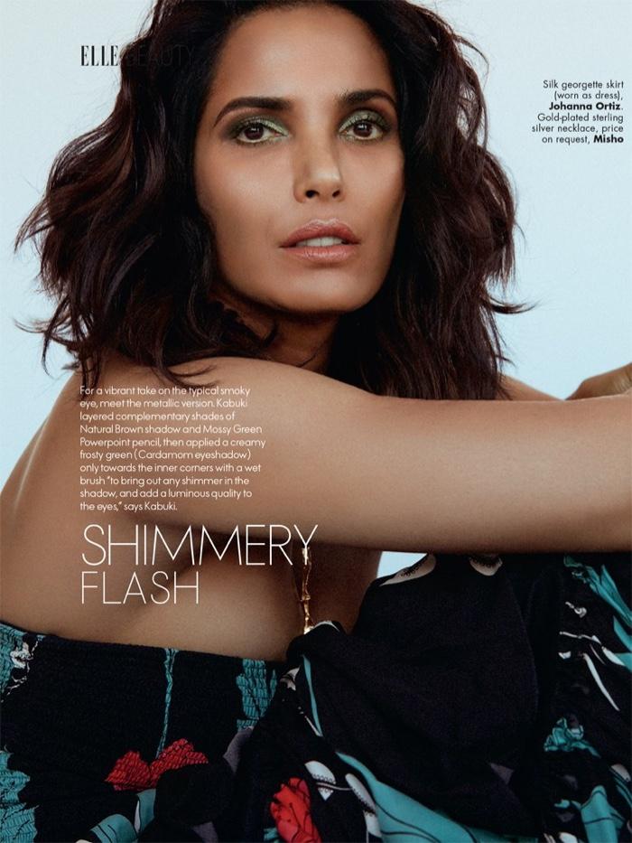 Padma Lakshmi wears MAC Cosmetics for ELLE India