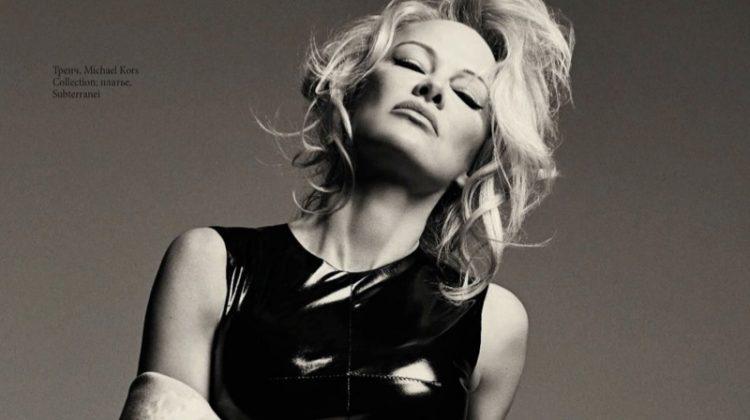 Pamela Anderson Wears Form-Fitting Looks for ELLE Russia