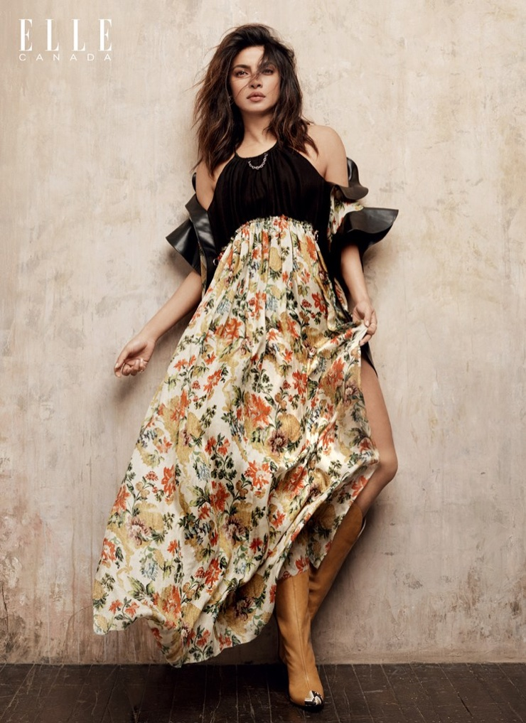 Actress Priyanka Chopra wears Louis Vuitton dress and Givenchy boots