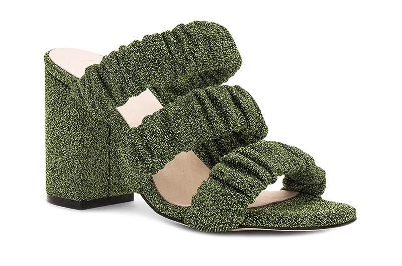 RAYE Mimi Mule in Green $158