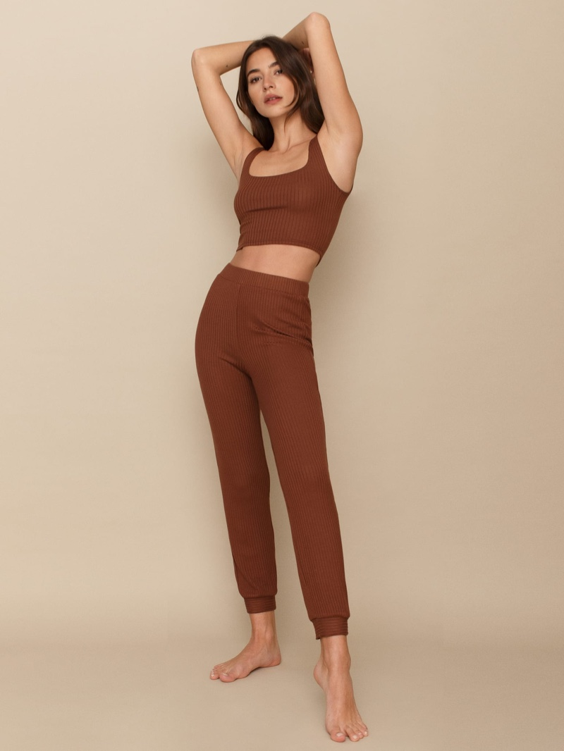 Reformation Carmel Two Piece Set in Chestnut $128