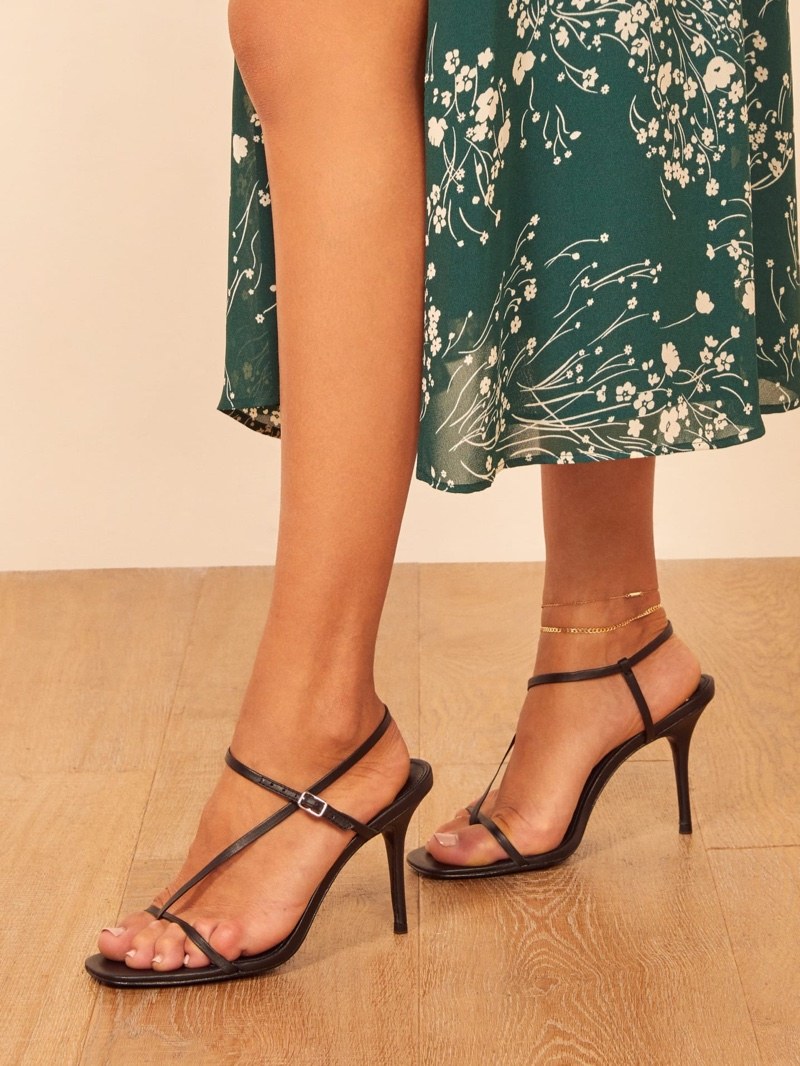 Reformation Ivy Heel in Black $198
