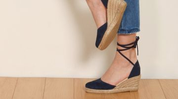 Reformation Romy Wedge Espadrille in Azul $138