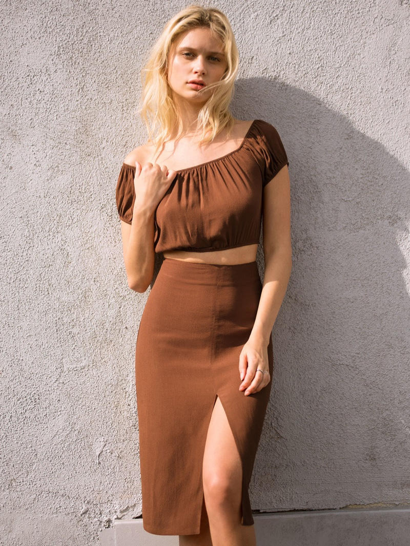 Reformation Allora Two Piece in Toffee