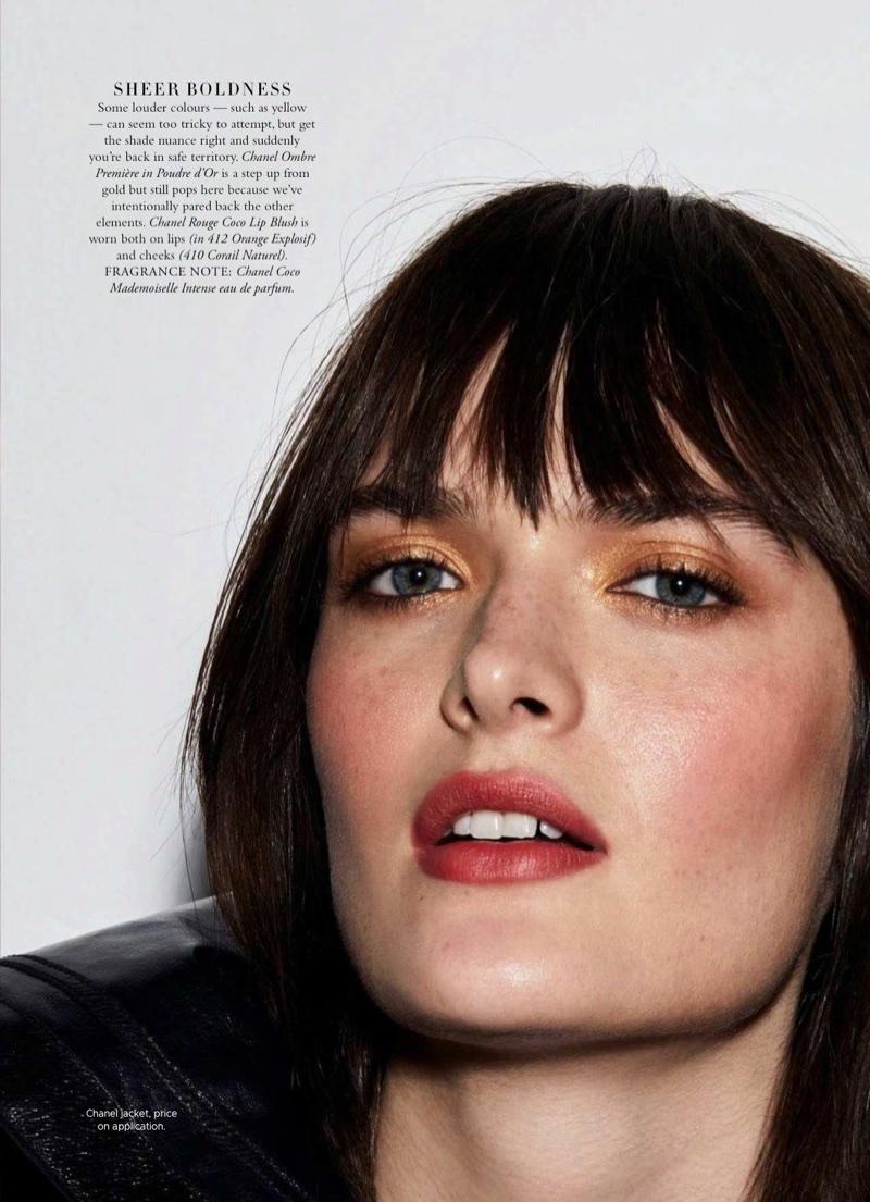 Sam Rollinson Models Chanel Makeup Looks for Harper's Bazaar Australia