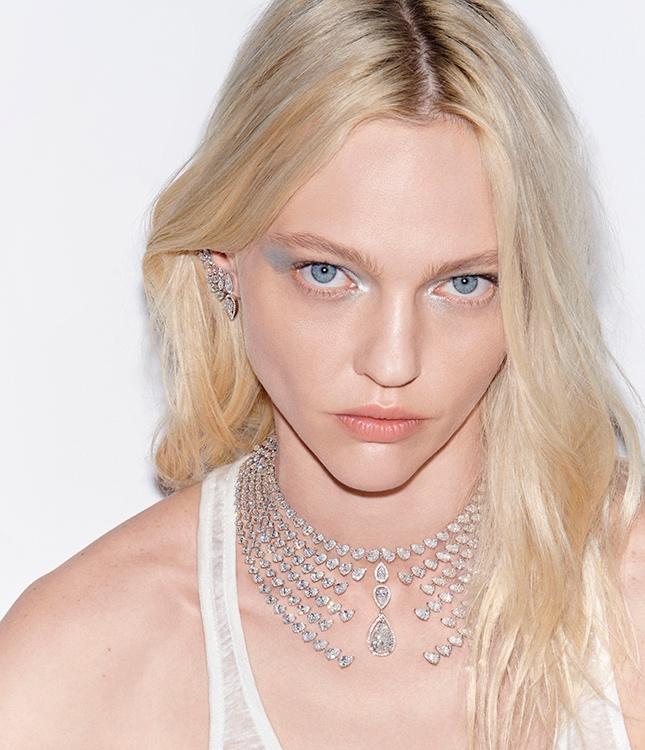 Sasha Pivovarova models Messika's new fairy tale inspired jewelry