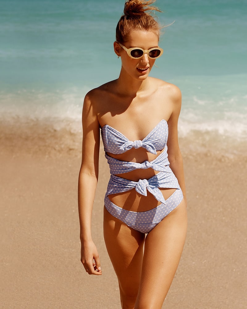 Lisa Marie Fernandez Triple Poppy Swimsuit and Elizabeth and James McKinley Sunglasses