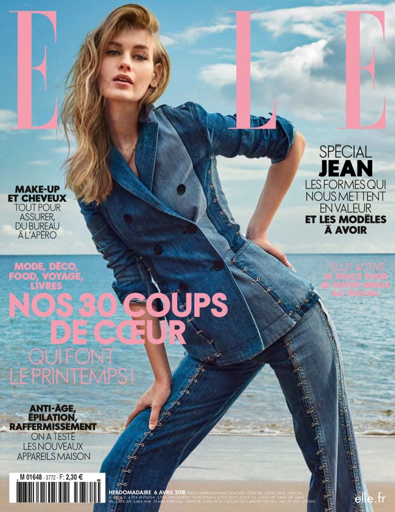Sofia Mechetner Takes On the Denim Trend for ELLE France
