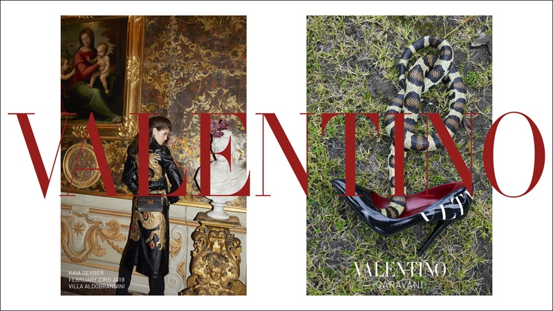 An image from Valentino's pre-fall 2018 advertising campaign