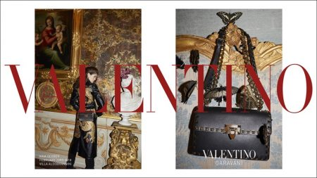 Kaia Gerber Poses in A Villa for Valentino's Pre-Fall 2018 Campaign