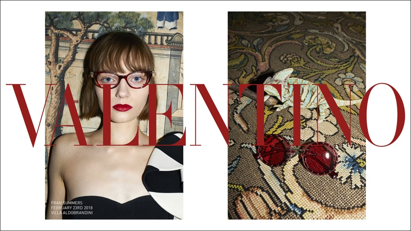 Fran Summers appears in Valentino's pre-fall 2018 campaign
