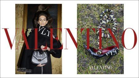 Kaia Gerber stars in Valentino's pre-fall 2018 campaign