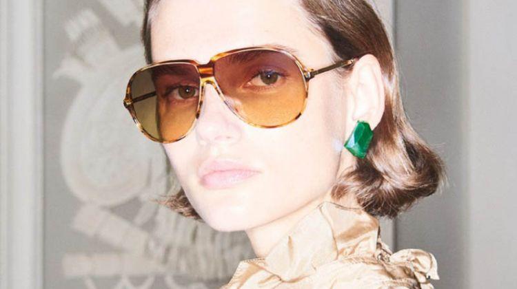 Giedre Dukauskaite Fronts Victoria Beckham Eyewear's Spring 2018 Campaign