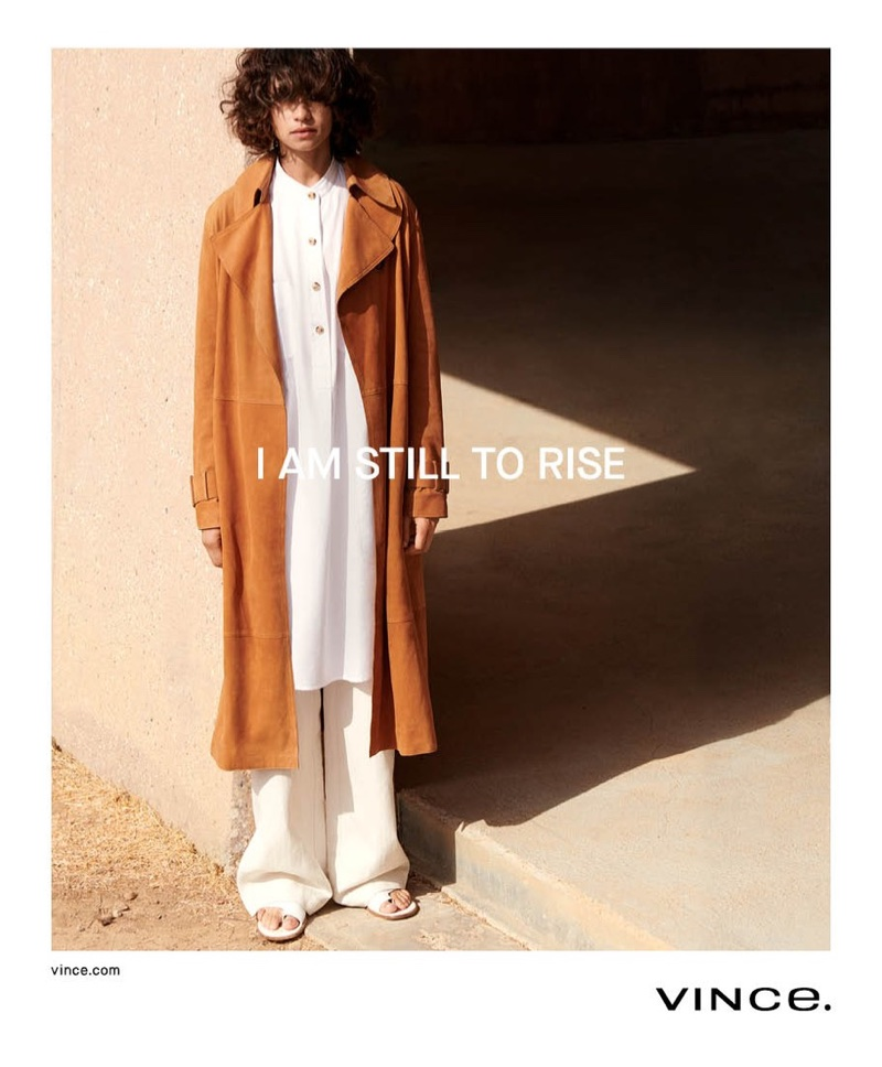Tandi Reason Dahl fronts Vince's spring-summer 2018 campaign