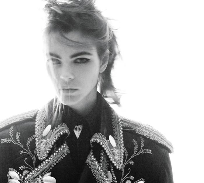 Vittoria Ceretti Poses in Western Fashions for WSJ. Magazine