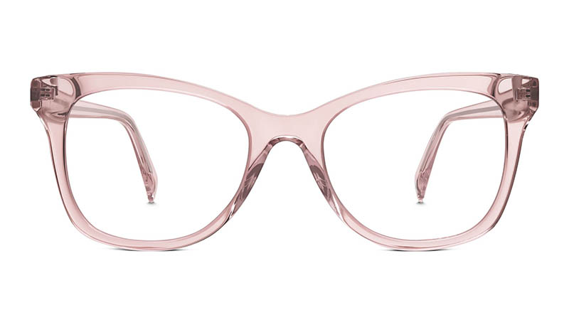 Warby Parker Hallie Glasses in Rose Crystal $95