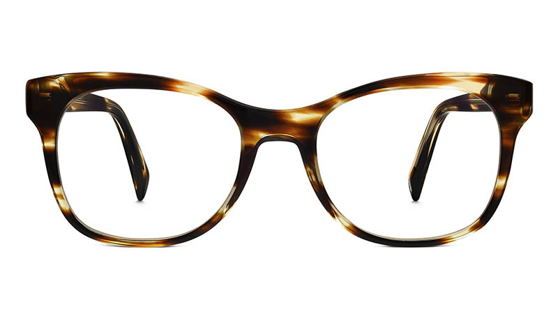 Warby Parker Lucy Narrow Glasses in Striped Sassafras $95
