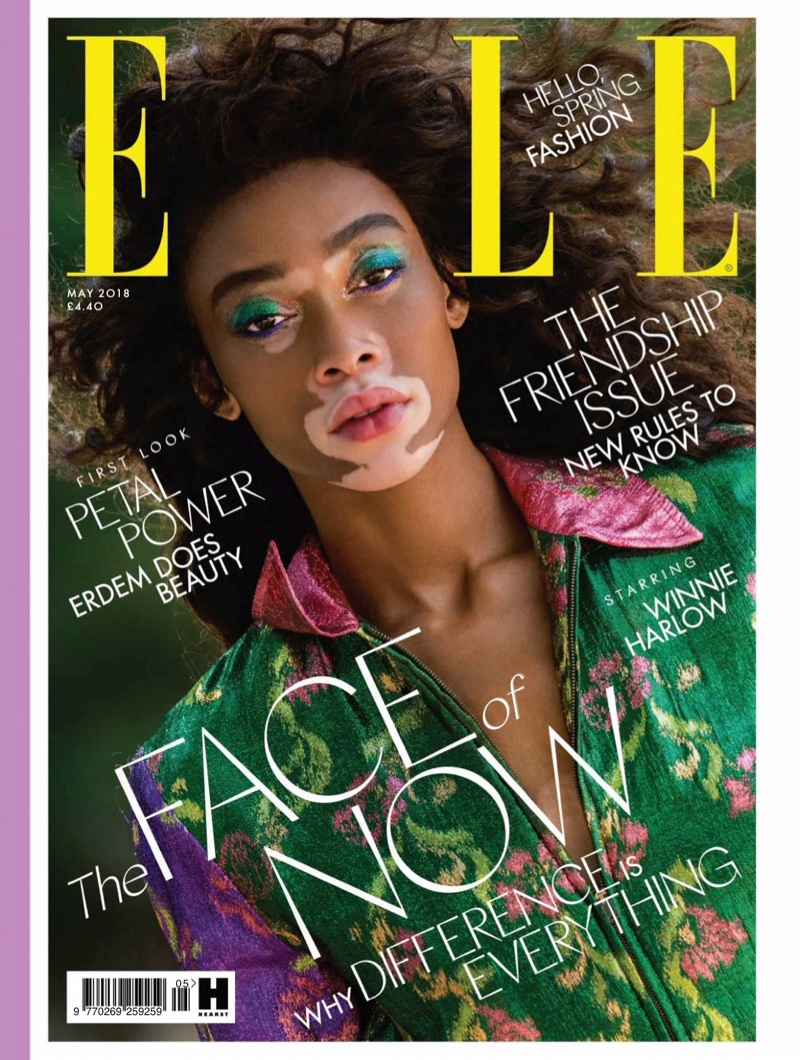 Winnie harlow elle uk 2018 cover photoshoot for Where to buy elle magazine