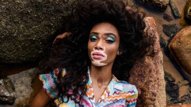 Winnie Harlow Poses in Vibrant Prints for ELLE UK