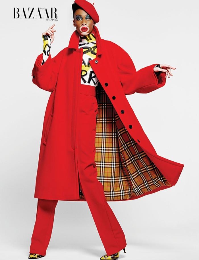 Winnie Harlow Wears Statement Styles for Harper's Bazaar Singapore