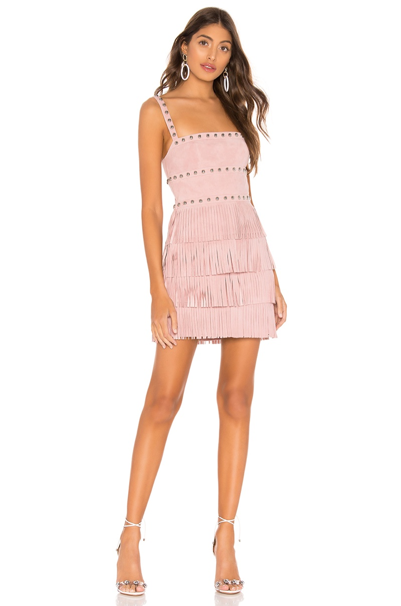 X by NBD Dusty Suede Mini Dress $498