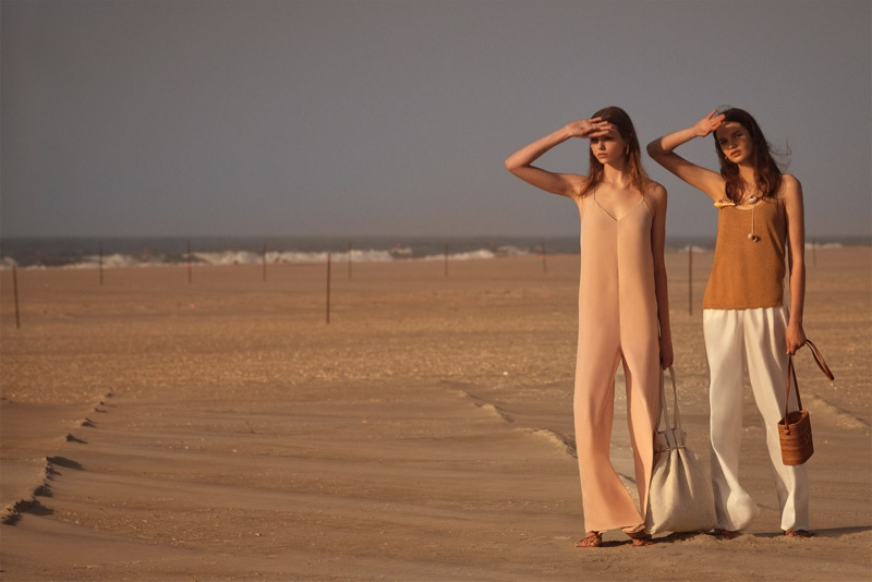 (Left) Zara Flowy Jumpsuit (Right) Zara Knit Top and Palazzo Trousers