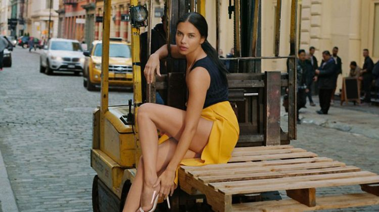 Adriana Lima Poses Around NYC in Schutz' Summer 2018 Campaign