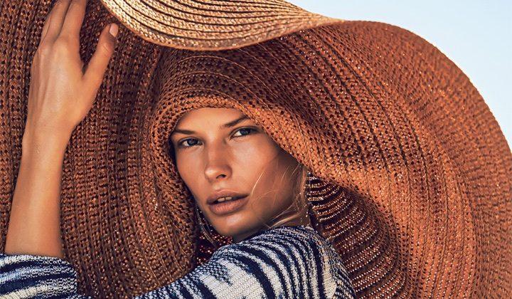 Alena Blohm Poses in Fab Beach Fashions for Grazia Italy