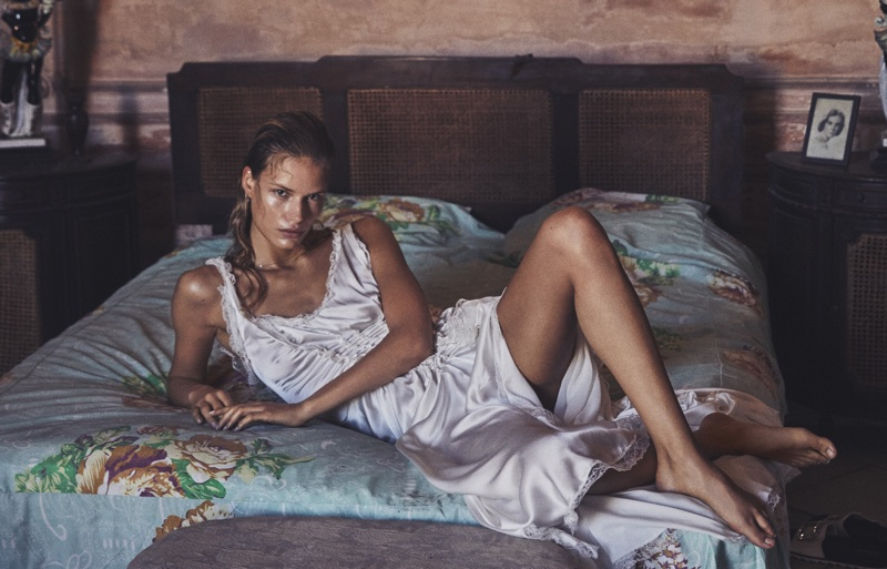 Alena Blohm Models Summer Dresses in Cuba for Grazia Italy