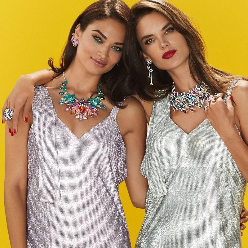 Shanina Shaik and Alessandra Ambrosio model Swarovski's Luminous Fairy collection