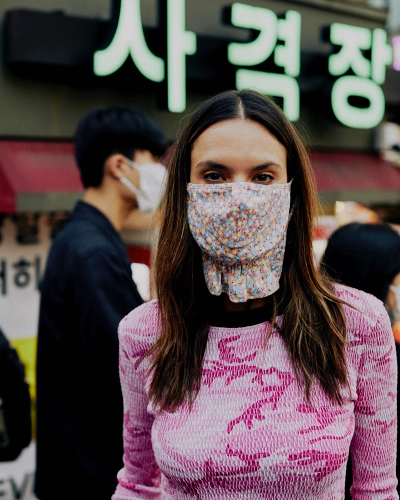 Alessandra Ambrosio Poses in Seoul for Vogue Brazil Cover Story