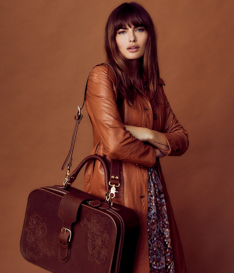 Model Alyssa Miller fronts Pilgrim handbag and luggage campaign
