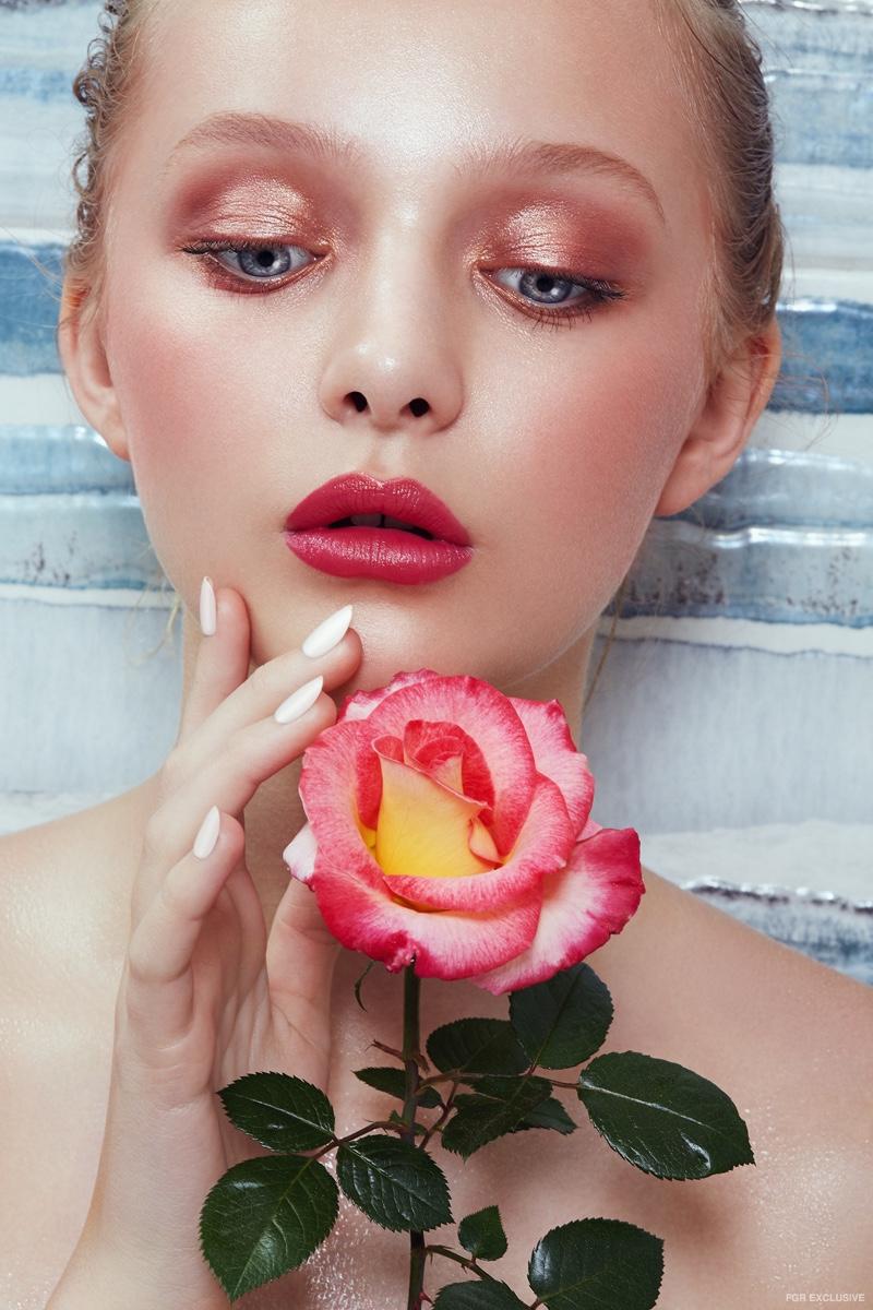 Wendy Hope photographs Amiah Miller in 'Rêves de Fleurs'