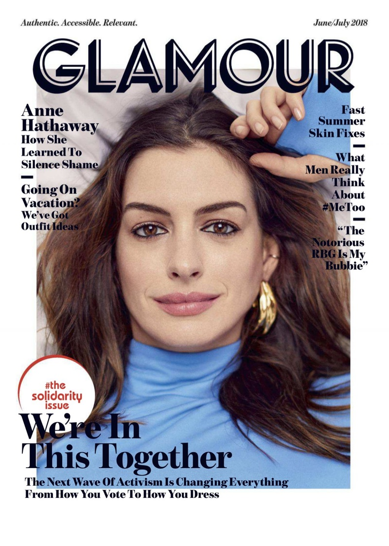 Anne Hathaway on Glamour Magazine June-July 2018 Cover