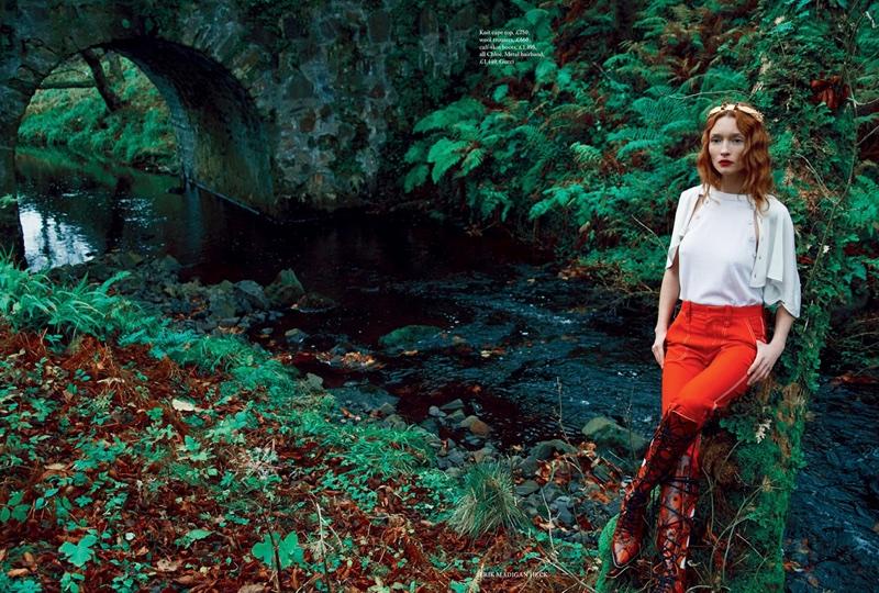 Audrey Marnay Channels Royal Elegance for Harper's Bazaar UK