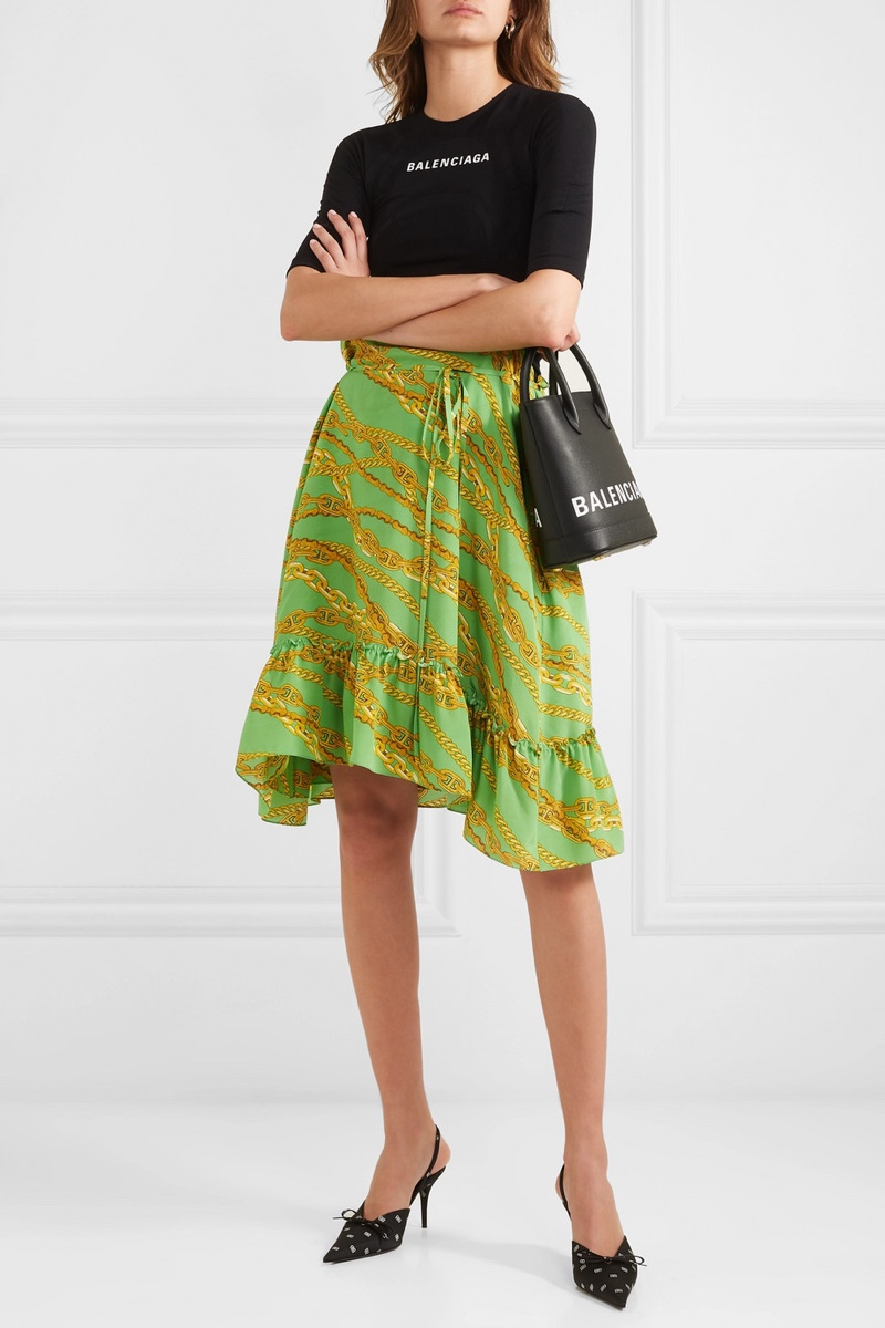 Balenciaga Printed Jersey Silk-Crepe Dress $1,175 (previously $2,350)