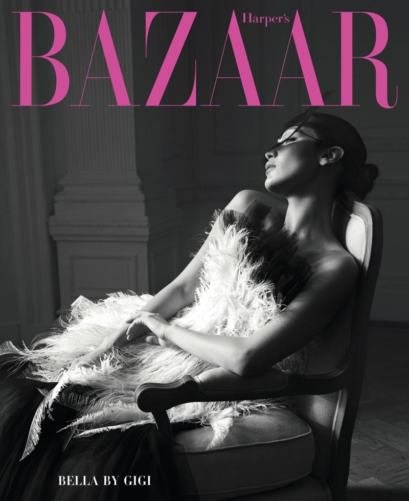 Bella Hadid Enchants in Haute Couture for Harper's Bazaar