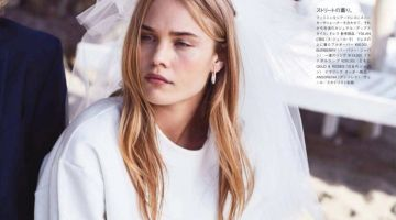 Brooke Perry Wears Unconventional Bridal Looks for Vogue Japan Wedding