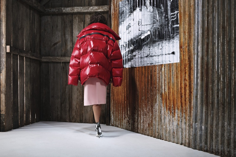 Puffer jacket stands out in Calvin Klein's pre-fall 2018 campaign