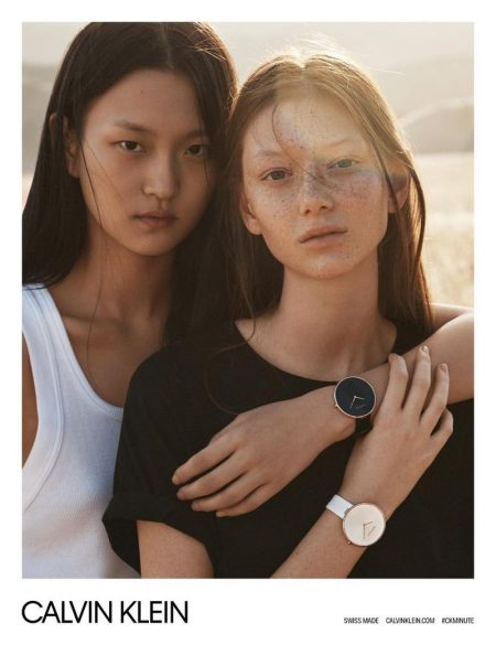 Wangy and Sara Grace Wallerstedt star in Calvin Klein Watches' spring-summer 2018 campaign