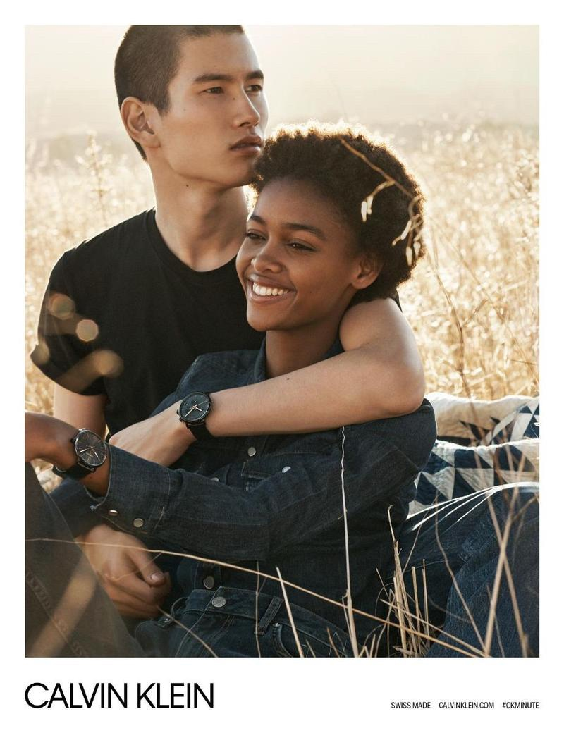 Blesnya Minher and Kohei Takabatake appear in Calvin Klein Watches spring-summer 2018 campaign