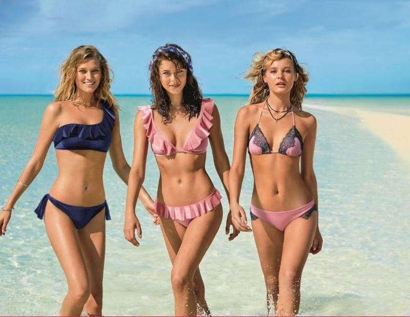 Toni Garrn, Georgia Fowler and Paige Reifler front Calzedona Swimwear's summer 2018 campaign