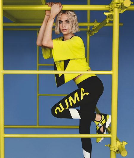 PUMA enlists Cara Delevingne for Muse Cut-Out sneaker campaign