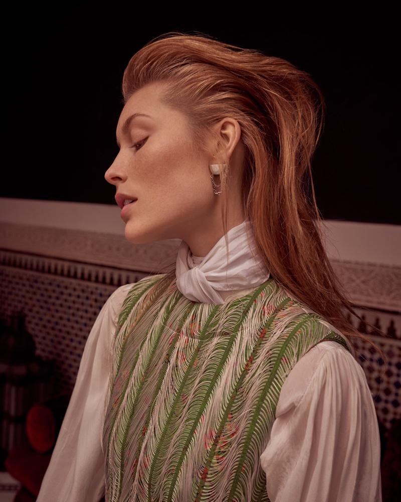 Caroline Lossberg Poses in Louis Vuitton for Harper's Bazaar Czech