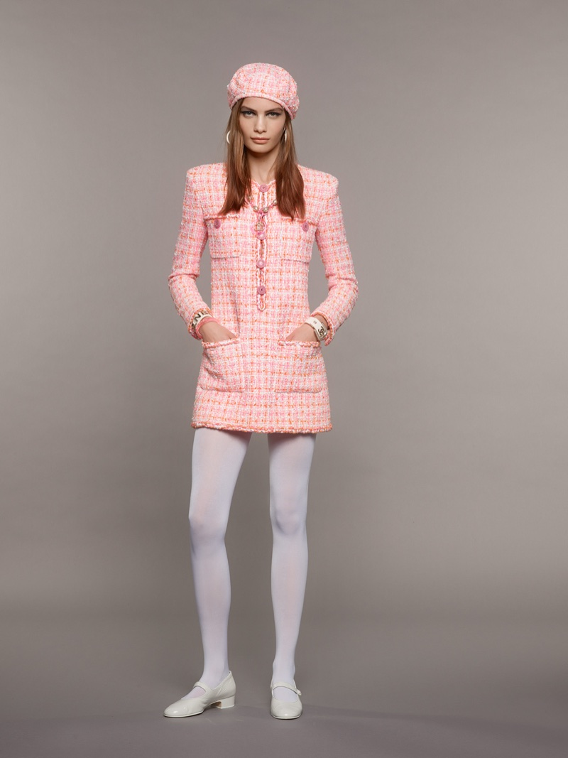 Chanel spotlights pink tweed for cruise 2019 collection